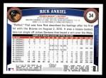2011 Topps #34  Rick Ankiel  Back Thumbnail