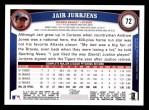 2011 Topps #72  Jair Jurrjens  Back Thumbnail
