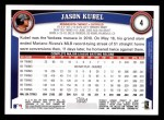 2011 Topps #4  Jason Kubel  Back Thumbnail