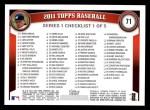 2011 Topps #71   -  Trevor Hoffman Record Breaker Back Thumbnail