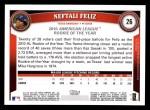 2011 Topps #26  Neftali Feliz  Back Thumbnail