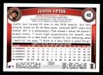 2011 Topps #40  Justin Upton  Back Thumbnail
