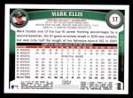 2011 Topps #17  Mark Ellis  Back Thumbnail