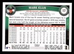 2011 Topps #17  Mark Ellis  Back Thumbnail