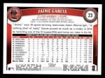 2011 Topps #23  Jaime Garcia  Back Thumbnail