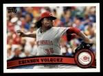 2011 Topps #63  Edinson Volquez  Front Thumbnail