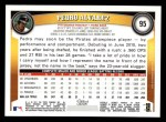 2011 Topps #95  Pedro Alvarez  Back Thumbnail