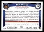 2011 Topps #70  Kyle Drabek  Back Thumbnail