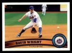 2011 Topps #15  David Wright  Front Thumbnail