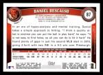 2011 Topps #87  Daniel Descalso  Back Thumbnail