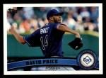 2011 Topps #61  David Price  Front Thumbnail