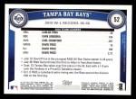 2011 Topps #52   Devil Rays Team Back Thumbnail