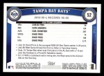 2011 Topps #52   Devil Rays Team Back Thumbnail