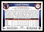 2011 Topps #12  Carlos Marmol  Back Thumbnail