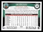 2011 Topps #30  Gio Gonzalez  Back Thumbnail