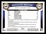 2011 Topps #187   Brewers Team Back Thumbnail