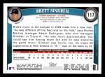 2011 Topps #117  Brett Sinkbeil  Back Thumbnail