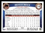 2011 Topps #175  Brennan Boesch  Back Thumbnail