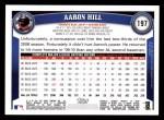 2011 Topps #197  Aaron Hill  Back Thumbnail