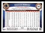 2011 Topps #181  Magglio Ordonez  Back Thumbnail