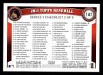 2011 Topps #141   -  Ubaldo Jimenez Record Breaker Back Thumbnail