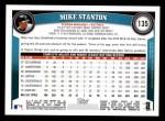 2011 Topps #135  Mike Stanton  Back Thumbnail