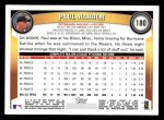 2011 Topps #180  Paul Maholm  Back Thumbnail