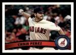 2011 Topps #159  Chris Perez  Front Thumbnail