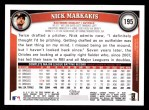 2011 Topps #195  Nick Markakis  Back Thumbnail