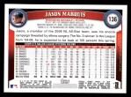 2011 Topps #136  Jason Marquis  Back Thumbnail