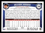 2011 Topps #184  Brandon Morrow  Back Thumbnail