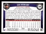 2011 Topps #104  Ian Stewart  Back Thumbnail