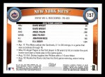 2011 Topps #157   Mets Team Back Thumbnail