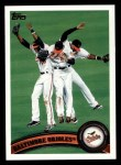 2011 Topps #152   Orioles Team Front Thumbnail