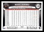2011 Topps #128  Manny Ramirez  Back Thumbnail