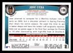 2011 Topps #196  Jose Ceda  Back Thumbnail