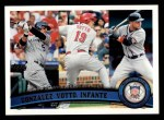2011 Topps #134   -  Carlos Gonzalez / Joey Votto / Omar Infante NL Batting League Leaders Front Thumbnail