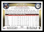 2011 Topps #178  Heath Bell  Back Thumbnail