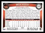 2011 Topps #177  Brian Matusz  Back Thumbnail