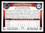 2011 Topps #183  Stephen Strasburg  Back Thumbnail