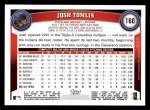 2011 Topps #160  Josh Tomlin  Back Thumbnail