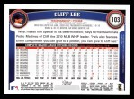 2011 Topps #103  Cliff Lee  Back Thumbnail