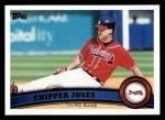 2011 Topps #169  Chipper Jones  Front Thumbnail