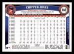 2011 Topps #169  Chipper Jones  Back Thumbnail