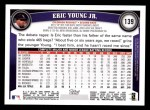 2011 Topps #139  Eric Young Jr.  Back Thumbnail