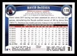 2011 Topps #170  David Dejesus  Back Thumbnail