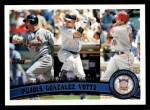 2011 Topps #138   -  Albert Pujols / Carlos Gonzalez / Joey Votto NL RBI League Leaders Front Thumbnail