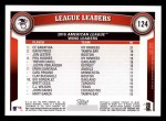 2011 Topps #124   -  C.C. Sabathia / Jon Lester / David Price AL Wins League Leaders Back Thumbnail