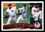 2011 Topps #124   -  C.C. Sabathia / Jon Lester / David Price AL Wins League Leaders Front Thumbnail