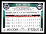 2011 Topps #149  David Aardsma  Back Thumbnail